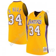 Canotte Basket Bambino Los Angeles Lakers 1999-00 Shaquille O'Neal 34# Oro Hardwood Classics Swingma..