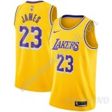 Canotte Basket Bambino Los Angeles Lakers 2019-20 LeBron James 23# Oro Icon Edition Swingman