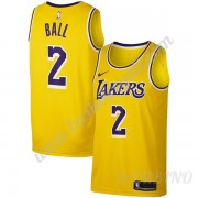Canotte Basket Bambino Los Angeles Lakers 2019-20 Lonzo Ball 2# Oro Icon Edition Swingman..
