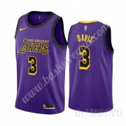 Canotte Basket Bambino Los Angeles Lakers 2019-20 Anthony Davis 3# Viola City Edition Swingman..