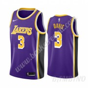 Canotte Basket Bambino Los Angeles Lakers 2019-20 Anthony Davis 3# Viola Statement Edition Swingman..