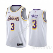 Canotte Basket Bambino Los Angeles Lakers 2019-20 Anthony Davis 3# Bianca Association Edition Swingm..