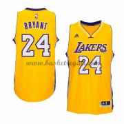 Maglie NBA Kobe Bryant 24# Gold Home 2015-16 Canotte Los Angeles Lakers..
