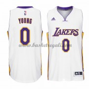 Maglie NBA Nick Young 0# White Home 2015-16 Canotte Los Angeles Lakers..
