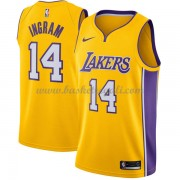 Maglie NBA Los Angeles Lakers 2018 Canotte Brandon Ingram 14# Icon Edition..
