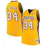 Maglie NBA Los Angeles Lakers 1999-00 Shaquille O'Neal 34# Oro Hardwood Classics Canotte Swingman..