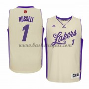 Magliette Basket Los Angeles Lakers Uomo 2015 D'Angelo Russell 1# NBA Natale Swingman..