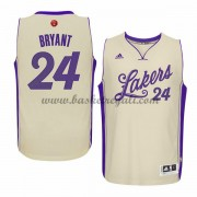Magliette Basket Los Angeles Lakers Uomo 2015 Kobe Bryant 24# NBA Natale Swingman..