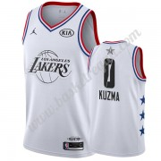 Maglie Basket NBA Los Angeles Lakers 2019 Kyle Kuzma 0# Bianca All Star Game Canotte Swingman..