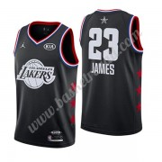 Maglie Basket NBA Los Angeles Lakers 2019 Lebron James 23# Nero All Star Game Canotte Swingman..