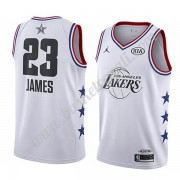 Maglie Basket NBA Los Angeles Lakers 2019 Lebron James 23# Bianca All Star Game Canotte Swingman..