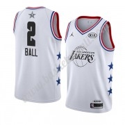 Maglie Basket NBA Los Angeles Lakers 2019 Lonzo Ball 2# Bianca All Star Game Canotte Swingman..