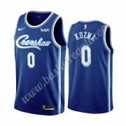Maglie NBA Los Angeles Lakers 2019-20 Kyle Kuzma 0# Blu Classics Edition Canotte Swingman..
