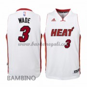 Maglie Basket NBA Miami Heat Bambino 2015-16 Dwyane Wade 3# Home Swingman..