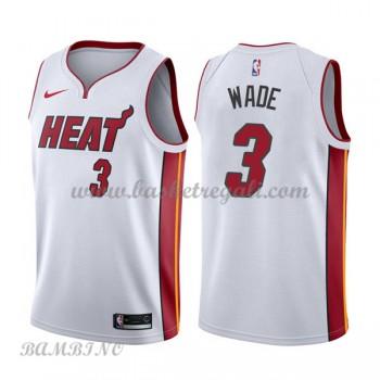 Canotte Basket Bambino Miami Heat 2018 Dwyane Wade 3# Association Edition