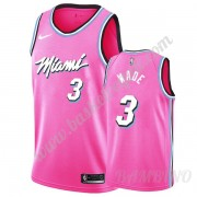 Canotte Basket Bambino Miami Heat 2019-20 Dwyane Wade 3# Rosa Earned Edition Swingman..