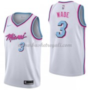 Maglie NBA Miami Heat 2018 Canotte Dwyane Wade 3# City Edition..