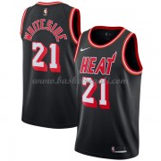 Maglie NBA Miami Heat 2018 Canotte Hassan Whiteside 21# Black Hardwood Classics..