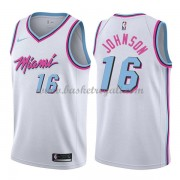 Maglie NBA Miami Heat 2018 Canotte James Johnson 16# City Edition..