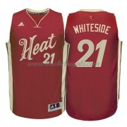 Magliette Basket Miami Heat 2015 Hassan Whiteside 21# NBA Natale Swingman..