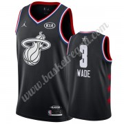 Maglie Basket NBA Miami Heat 2019 Dwyane Wade 3# Nero All Star Game Canotte Swingman..