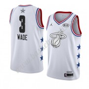 Maglie Basket NBA Miami Heat 2019 Dwyane Wade 3# Bianca All Star Game Canotte Swingman..
