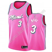 Maglie NBA Miami Heat 2019-20 Dwyane Wade 3# Rosa Earned Edition Canotte Swingman..