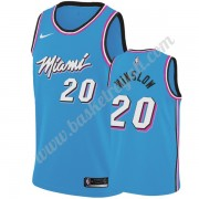 Maglie NBA Miami Heat 2019-20 Justise Winslow 20# Blu City Edition Canotte Swingman..