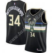 Maglie NBA Milwaukee Bucks 2019-20 Giannis Antetokounmpo 34# Nero Finished Statement Edition Canotte..