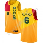 Maglie NBA Milwaukee Bucks 2019-20 Eric Bledsoe 6# Giallo City Edition Canotte Swingman..