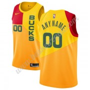 Maglie NBA Milwaukee Bucks 2019-20 Giallo City Edition Canotte Swingman..