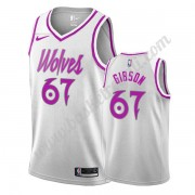 Maglie NBA Minnesota Timberwolves 2019-20 Taj Gibson 67# Bianca Earned Edition Canotte Swingman..