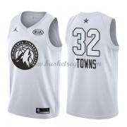 Divise Basket Minnesota Timberwolves s Karl-Anthony Towns 32# Bianca 2018 All Star Game..