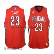 Canotte Basket Bambino Anthony Davis 23# Alternate 2015-16 Maglia New Orleans Pelicans