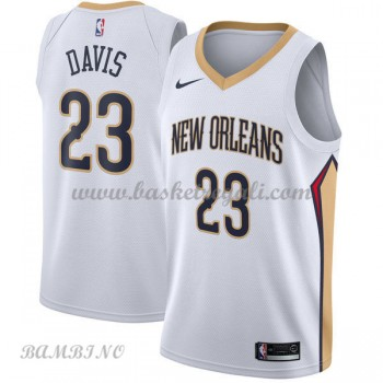 Canotte Basket Bambino New Orleans Pelicans 2018 Anthony Davis 23# Association Edition