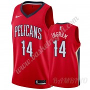 Canotte Basket Bambino New Orleans Pelicans 2019-20 Brandon Ingram 14# Rosso Statement Edition Swing..