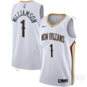 Canotte Basket Bambino New Orleans Pelicans 2019-20 Zion Williamson 1# Bianca Association Edition Sw..