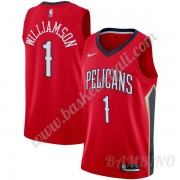 Canotte Basket Bambino New Orleans Pelicans 2019-20 Zion Williamson 1# Rosso Statement Edition Swing..