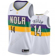 Maglie NBA New Orleans Pelicans 2019-20 Brandon Ingram 14# Bianca City Edition Canotte Swingman..
