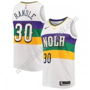 Maglie NBA New Orleans Pelicans 2019-20 Julius Randle 30# Bianca City Edition Canotte Swingman..