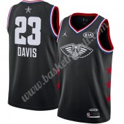 Maglie Basket NBA New Orleans Pelicans 2019 Anthony Davis 23# Nero Finished All-Star Game Canotte Sw..