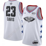 Maglie Basket NBA New Orleans Pelicans 2019 Anthony Davis 23# Bianca Finished All-Star Game Canotte ..