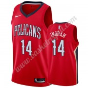 Maglie NBA New Orleans Pelicans 2019-20 Brandon Ingram 14# Rosso Statement Edition Canotte Swingman..