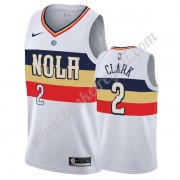 Maglie NBA New Orleans Pelicans 2019-20 Ian Clark 2# Bianca Earned Edition Canotte Swingman..