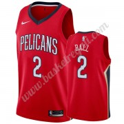 Maglie NBA New Orleans Pelicans 2019-20 Lonzo Ball 2# Rosso Statement Edition Canotte Swingman..