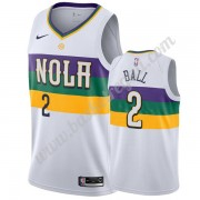 Maglie NBA New Orleans Pelicans 2019-20 Lonzo Ball 2# Bianca City Edition Canotte Swingman..