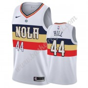Maglie NBA New Orleans Pelicans 2019-20 Solomon Hill 44# Bianca Earned Edition Canotte Swingman..