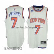 Maglie Basket NBA New York Knicks Bambino 2015-16 Carmelo Anthony 7# Home Swingman..