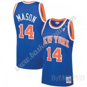 Canotte Basket Bambino New York Knicks 1991-92 Anthony Mason 14# Blu Hardwood Classics Swingman..