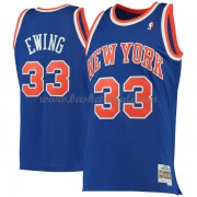 Maglie NBA New York Knicks Mens 1991-92 Patrick Ewing 33# Blue Hardwood Classics..
